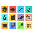 12 service car flat icon vector image