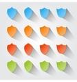 Set of modern shields vector image