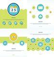 Set 4 item Design Concept office vector image