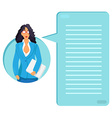 Worker with documents vector image