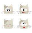 Icons of cute cat characters vector image