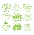 Organic Food Calligraphic Label Collection vector image