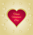 Happy Valentines day red heart greeting card vector image