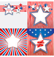 july fourth holiday stars vector image