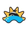 killer whale marine wildlife species wave sun vector image