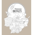 Premium Honey Vintage Sketch vector image