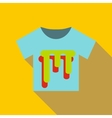 T shirt icon flat style vector image