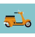 yellow motorcycle scooter vector image