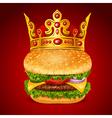 Royal Hamburger vector image