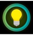 green eco energy bulb concept vector image