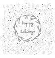 happy holidays items and sybmol icons card vector image vector image