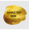 gold paint glittering textured art on transperent vector image