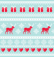 reindeer pattern christmas seamless design vector image