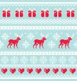 reindeer pattern christmas seamless design vector image vector image