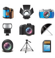 set photography vector image
