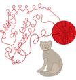 wool ball vector image vector image