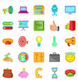 advancement icons set cartoon style vector image