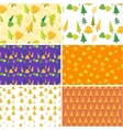 Autumn seamless pattern Set Flat design vector image