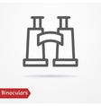 Binoculars silhouette icon vector image