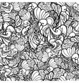 black and white ornamental floral vector image