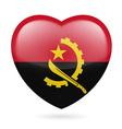 Heart icon of Angola vector image