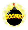 isolated comic bomb vector image