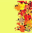 red orange maroon ink splashes background copy vector image