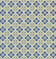 retro geometric seamless pattern in blue and grey vector image