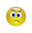 smile angry icon vector image