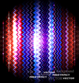 zigzag striped abstract background vector image vector image
