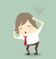 popular businessman serious stress concern confuse vector image