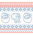 Knitted pattern with santa claus vector image