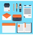Corporate identity template with digital elements vector image vector image