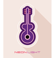 guitar on light with shadow vector image vector image