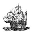 Columbus ship 01 vector image