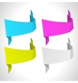 abstract origami background set vector image vector image
