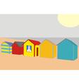 Beach Houses vector image