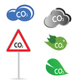 co2 sign vector image