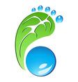Eco Friendly Footprint vector image
