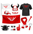 fan buff gear accessories realistic set vector image