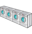 Laundry Machine Line vector image