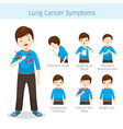 man with lung cancer symptoms vector image