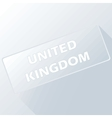United Kingdom unique button vector image