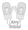 Warm knitted mittens vector image
