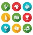 Wine production Icons Set vector image