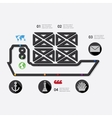 maritime trucking infographic vector image