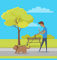 leisure in city park flat concept vector image