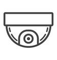 surveillance camera line icon cctv and security vector image