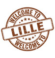 welcome to lille vector image