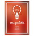 good idea poster vector image vector image